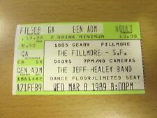 1989 JEFF HEALEY BAND FILLMORE SAN FRANCISCO CONCERT TICKET STUB ANGEL EYES
