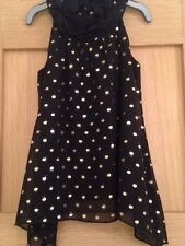 Girls Black And Gold Spot Tunic Top Aged 3 Years By TU