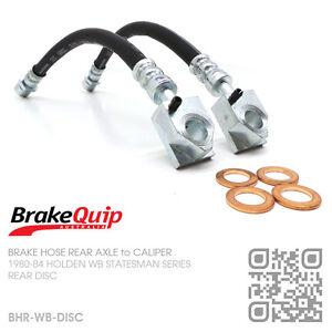 BRAKEQUIP BRAKE HOSE REAR AXLE to CALIPER [HOLDEN WB STATESMAN/CAPRICE]