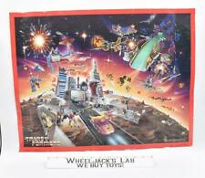 Metroplex 1986 SpaghettiOs Promotional Poster 17 x 22 G1 Transformers Vintage