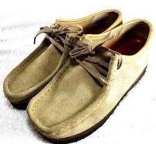 Clarks Originals Wallabee Beige Casual Suede Shoes Low 35395 Women's Size 7.5 M