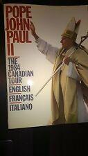 Pope John Paul II 1984 Canadian Tour Paperback Book English, French, Italian