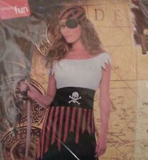 Pirate Wench Costume Includes Dress and Headpiece Smiffy's New Womens Sz Small
