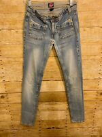 VGT FIORUCCI Slightly Distressed Look BOOTCUT STRETCH JEANS Size 5