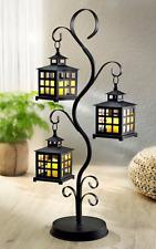 XL Baum Beleuchtet Laternen Laterne und Led Kerzen Ornamente Metall Wohndeko Neu