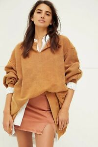 Free People Oversized With The Band Sweatshirt Autumn Wildflower  S M L NEW