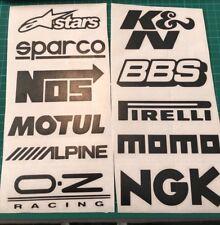 11 x Racing Stickers Voiture Fenêtre Pare-Chocs JDM VW Vinyle Sponsor Decals - 11 couleurs