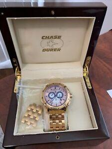 Chase-Durer Crossfire Watch Chronograph Gunmetal Stainless Bracelet-Beautiful