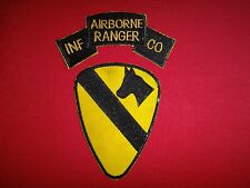 Set Of 2 Vietnam War Patches: AIRBORNE RANGER INF CO. + US 1st Cavalry Division