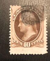 10c US #187 used Stamp  H CV$42.50