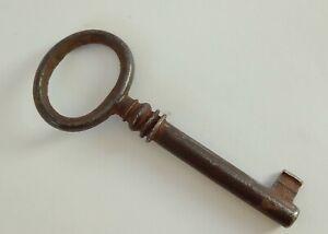 19th Antique Vintage French Skeleton Key Lock Furniture Barrel Key Rare Decor