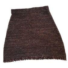 Atmosphere Maroon/black Knit Stretchy Skirt Size Medium B26
