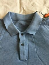 Marks and Spencer M&S Men's Long Sleeved Polo Shirt. Sky Blue. Large L NEW BNWT