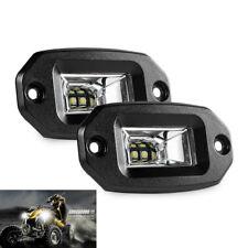 2x 20W LED Zusatzscheinwerfer Flutlicht SUV ATV Offroad bündiger Einbau Lampe