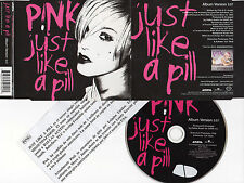 """PINK / P!NK """"JUST LIKE A PILL"""" ULTRA RARE PROMO CD SINGLE + PRESS NOTE FOR DJS"""
