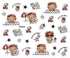 Nail Art Pegatinas Calcomanías De Transferencia Pegatinas Hello Kitty de agua (WG248)