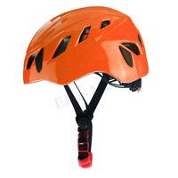Rescue Helmet Rock Hat Cap Climbing Downhill Caving Rappelling Protector Orange