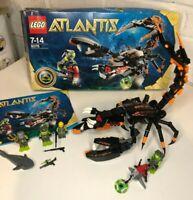 Lego Atlantis 8076 - Deep Sea Striker - With 4 Extra Atlantis Characters boxed