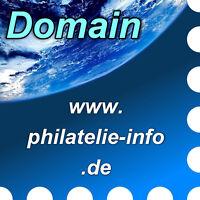 www.philatelie-info.de - Domain / Internet-Adresse / Web-Adresse / URL