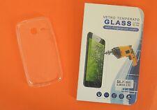 Cover guscio silicone trasparente per Samsung J1 Mini J105 + pellicola v. OMA151