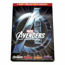 Marvel Avengers 1-4 Collector's Edition Dvd 4-Movie Collection w/ Endgame Ultron