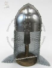 SCA MEDIEVAL TEMPLAR CRUSADER KNIGHT ARMOR GREAT HELMET WITH LEATHER LINER
