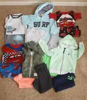 Lot of 15 nice clean boys' 24 mos. Fall Winter Clothes & Sets Carters Disney EUC