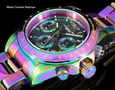 New Invicta 40mm Speedway Quartz Chronograph Black MOP Dial IRIDESCENT SS Watch