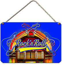 ROCK AND ROLL WALL PLAQUE  Aluminium Wall Sign Rock N Roll Wall Art