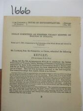 Govt Report Indian Committee Western Yearly Meeting of Friends in Indiana #1666