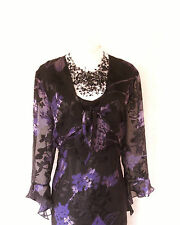 CATTIVA Purple & Black Size 14 Ladies Designer Wedding Dress & Jacket Outfit