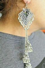 New Handmade Tibetan silver Tribal hippie boho Mirror Dangle Earring Earrings