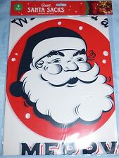 SANTA SACKS PACK OF 4 GIFT CHRISTMAS PRESENT CHILDREN FESTIVE 78 X 51CM PLASTIC