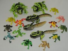 5 tadpole to frog and 12 small plastic frogs FREE POST O35 &033