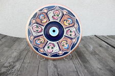 LARGE Turkish Handmade Decorative Copper Plate with Evil Eye-Nazar Boncuk UNIQUE