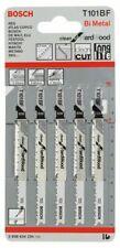 Bosch Stichsägeblätter T 101 BF BIM Clean for Hard Wood Holz 2608634234 5 Stück