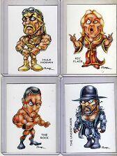 Wwf Wwe Wrestlers #1 (4 Cards) Art Prints Ric Flair Hulk Hogan Undertaker Rak