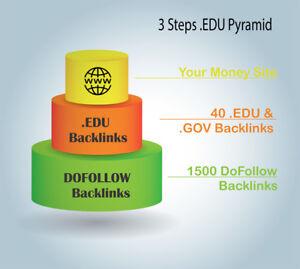 3 Steps .EDU link pyramid. Quality Organic Backlinks Service