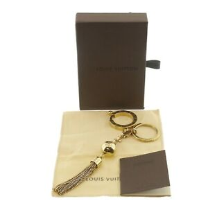Authentic LOUIS VUITTON Porte Cles Swing Charm Gold Brass M65997 #f29529
