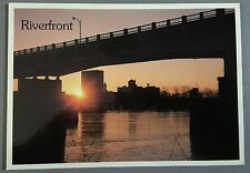 UNUSED Vintage Postcard- Riverfront & Bridge, Savannah River in Augusta, GA