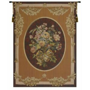 """Petit Bouquet en Jaune French Tapestry Wall Hanging H 58"""" x W 43"""""""