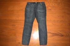 NY&C 'SOHO JEANS' LEGGING STRETCH Gray Corduroy Pants - Women Size 14 - NWT