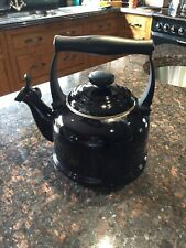 Le Creuset Traditional Stove-Top Kettle with Whistle Black Colour.