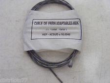 cable frein arriere mobylette MOTOBECANE MBK SOLEX  L: 1,80m  diametre:18/10ème