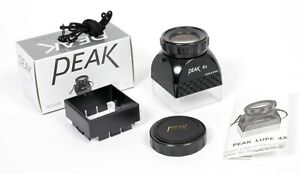 NEW Peak 4X Achromatic ground glass focusing Loupe/Lupe with neck strap