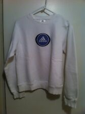 Adidas Women's M White And Purple Sweater Crewneck