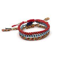 BENAVA Tibetisches Armband Bunt Glücksarmband – Freundschaftsarmband 3er Set