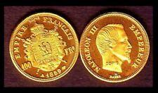 Pièces de monnaie françaises de 100 francs 100 Francs sur Napoléon III