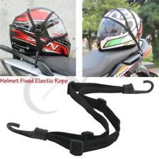 Black Motorcycle Strength Retractable Helmet Luggage Elastic Rope Strap Hooks QK