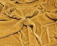 """Gold Plush Silk Velvet Upholstery Apparel Fabric - BTY - 44"""" / 45"""""""
